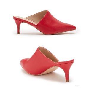 NEW~Catherine Malandrino Red Mule pump heel sz 10